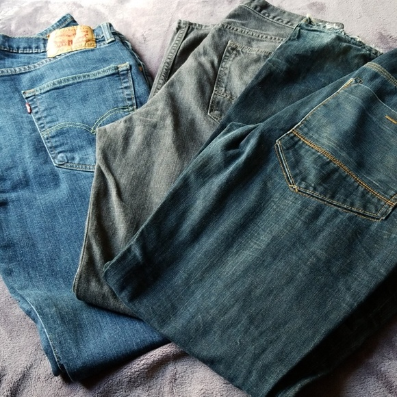 Lot of 3 denim jeans 3432